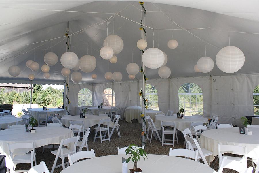 Декор в шатре