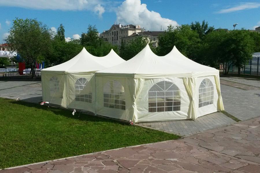 Аренда шатров для мероприятий под открытым небом
