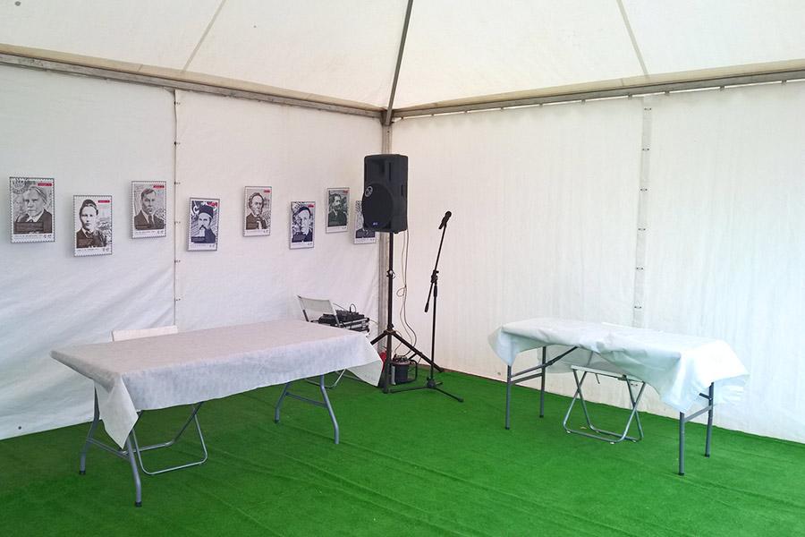Установка звукового оборудования в шатре